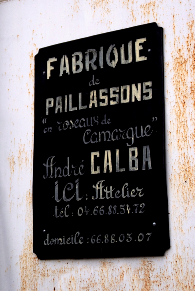 Plaque ancienne fabrique de paillassons